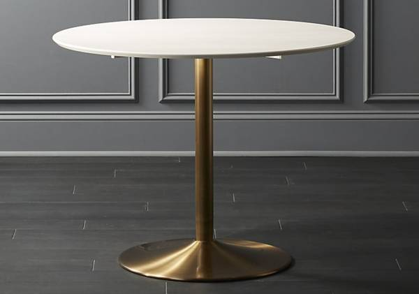 White and Brass Table     $300   There are 2 available.    View on Craigslist