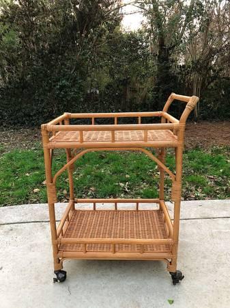 Rattan Bar Cart     $140     View on Craigslist