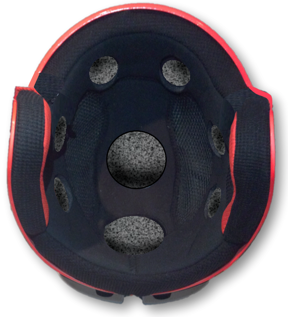 Briko Vulcano FIS - inside view showing comfort liner with holes for Fluid pod matrix.