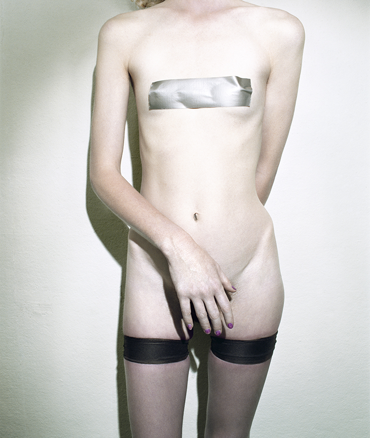 Untitled,  (Stockings and Tape) from  Early Color Portfolio , circa 1976 20 x 16 inches/11.25 x 9.5 inches Archival Pigment Print