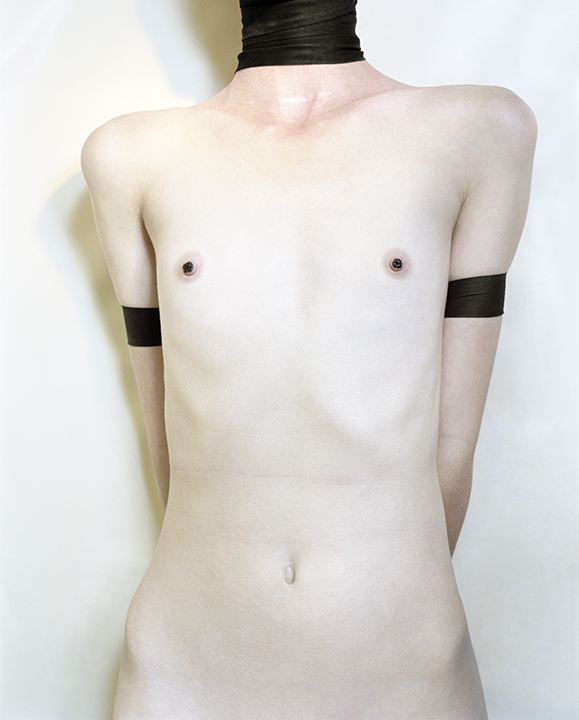 Untitled,  (Woman Painted Nipples) from  Early Color Portfolio , circa 1976 16 x 20 inches Archival Pigment Print