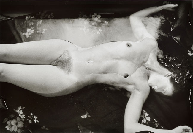 Untitled, (Nude in Water) from the  Early Black and White Portfolio , circa Early 1970's Gelatin Silver Print  14 x 11 inches