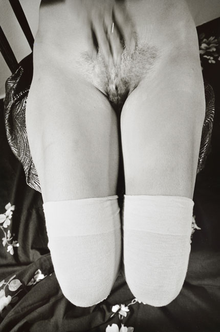 Untitled, (Nude and Hand) from the  Early Black and White Portfolio , circa Early 1970's Gelatin Silver Print 11 x 14 inches