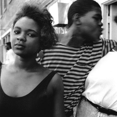 Girl on Catfish Alley , Columbus, Mississippi, 1990 Silver Gelatin Print Image 9.75 x 9.75 inches/Sheet 11 x 14 inches