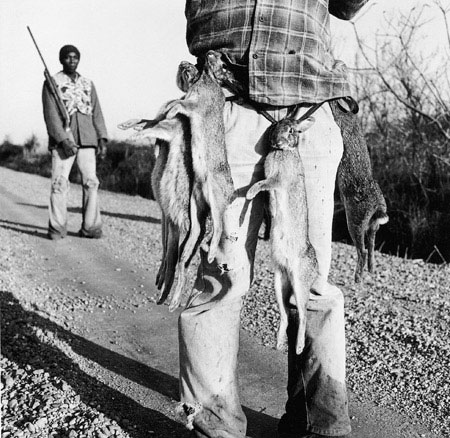 Rabbit Hunters , Lowndes County, Mississippi, 1980 Silver Gelatin Print Image 9.75 x 9.75 inches/Sheet 11 x 14 inches