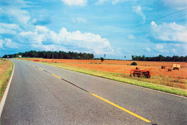 Untitled  (Road and farmland), 1976 Dye Transfer Print 20 x 24 inches