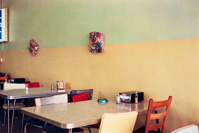 Untitled  (Yellow cafe), 1976 Dye Transfer Print 20 x 24 inches