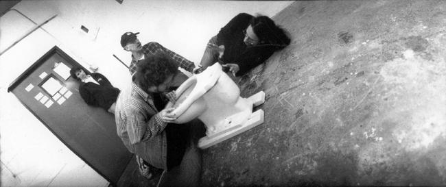 Joel and Ethan Coen on the set of The Big Lebowski , 1998