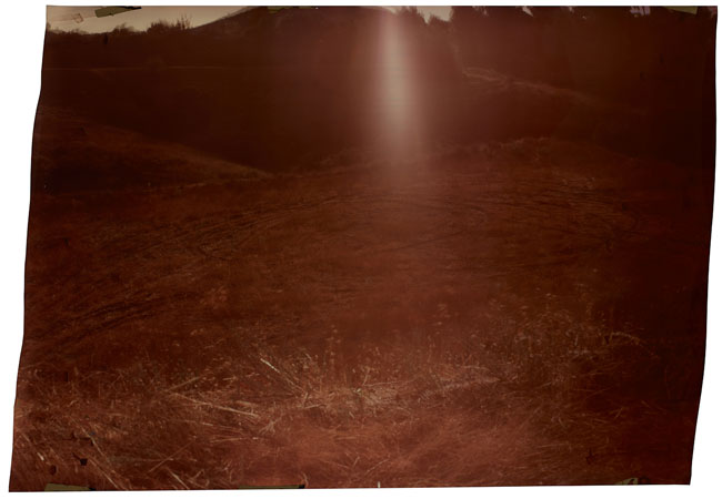 Mulholland at Cold Creek , 2012 Image on Ilfochrome paper, unique photograph 50 x 72 inches