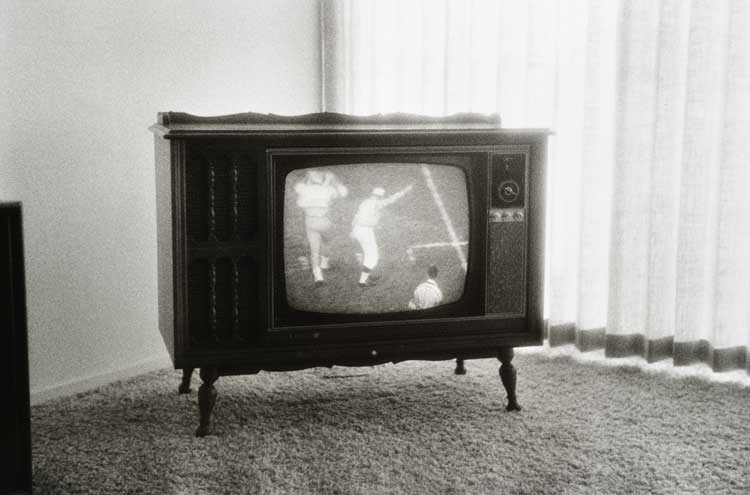 Untitled  (TV with baseball), 1960-1972 Gelatin Silver Print 16 x 20 inches