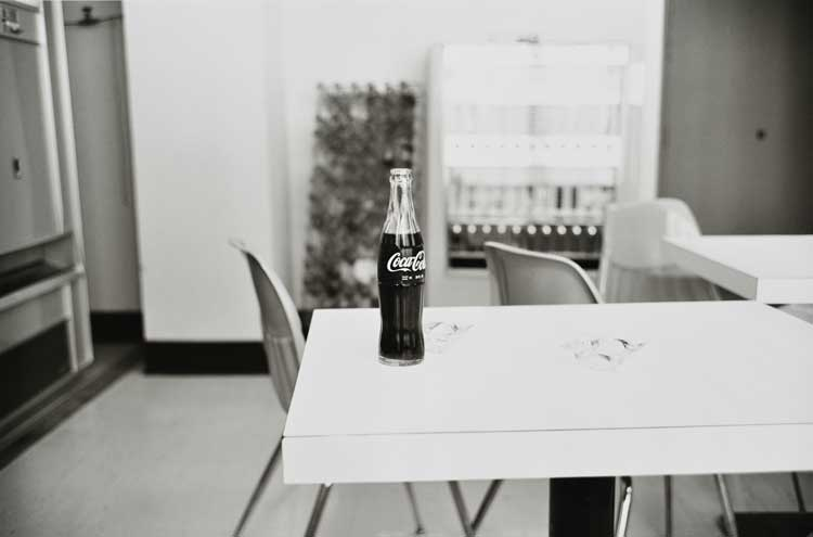 Untitled  (Coke bottle on table), 1960-1972 Gelatin Silver Print 16 x 20 inches