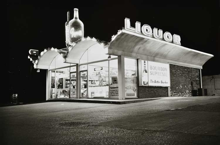 Untitled  (Liquor store at night), 1960-1972 Gelatin Silver Print 16 x 20 inches