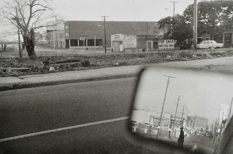 Untitled  (Street view in side mirror), 1960-1972 Gelatin Silver Print 16 x 20 inches