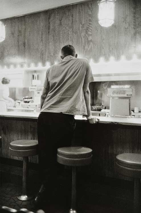Untitled  (Man at counter), 1960-1972 Gelatin Silver Print 20 x 16 inches