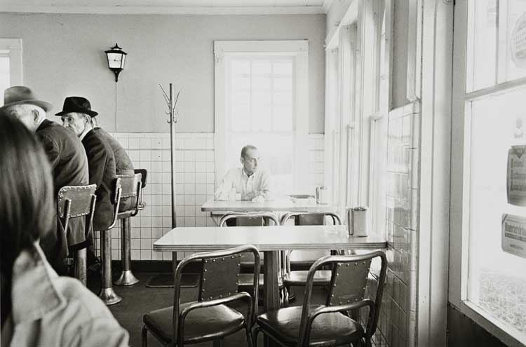 Untitled  (Man in cafe), 1960-1972 Gelatin Silver Print 16 x 20 inches