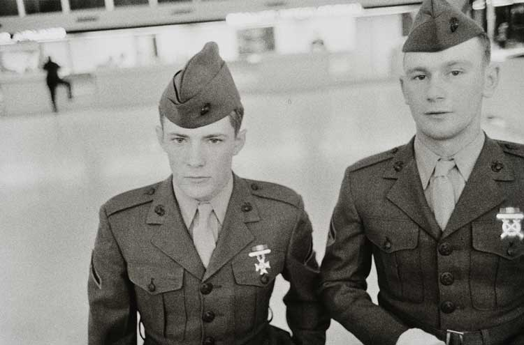 Untitled  (Two young men in uniform), 1960-1972 Gelatin Silver Print 16 x 20 inches
