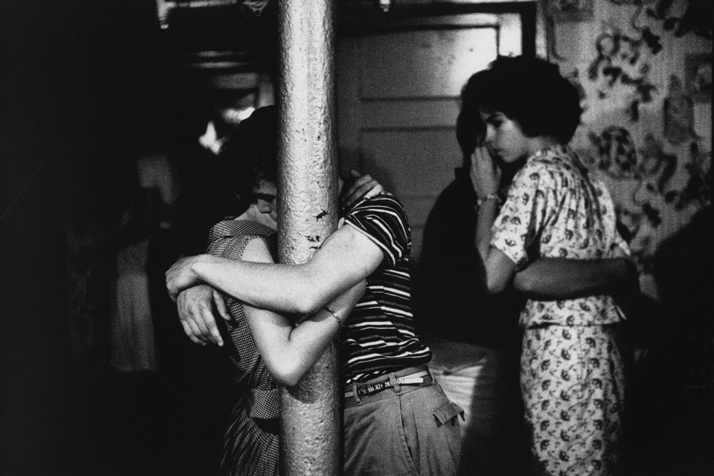 Untitled  (Young couple embracing)   from  Brooklyn Gang , 1959 Silver gelatin print 11 x 14 inches
