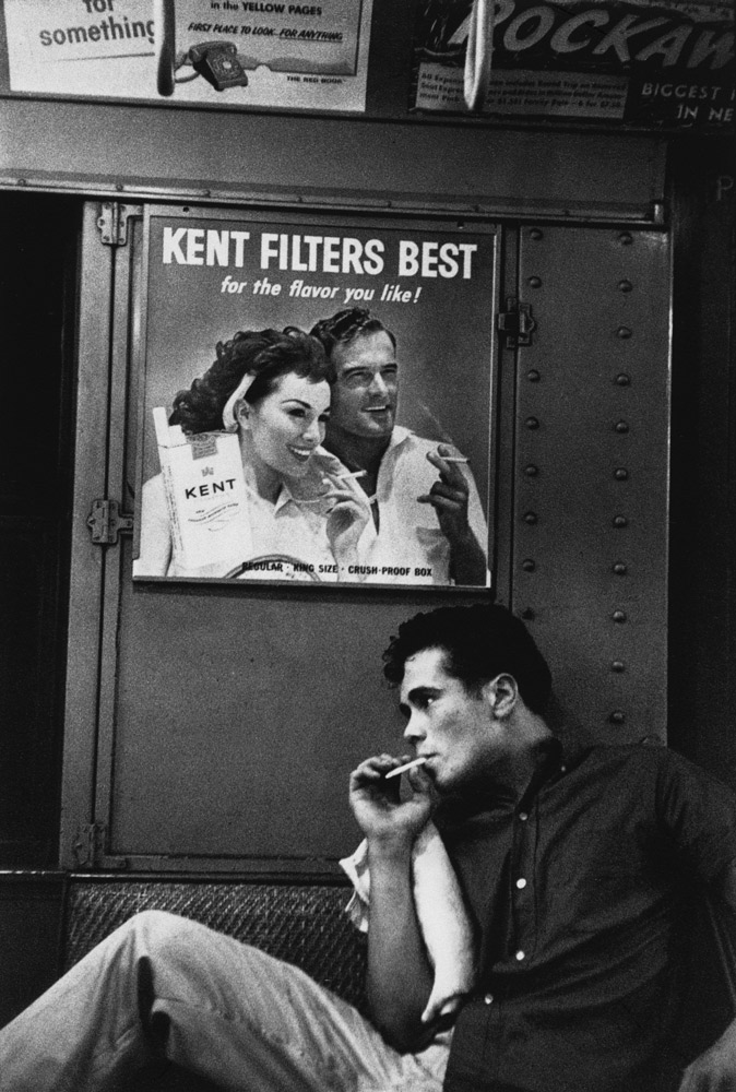 Untitled  (Kent's Filters)   from  Brooklyn Gang , 1959 Silver gelatin print 11 x 14 inches