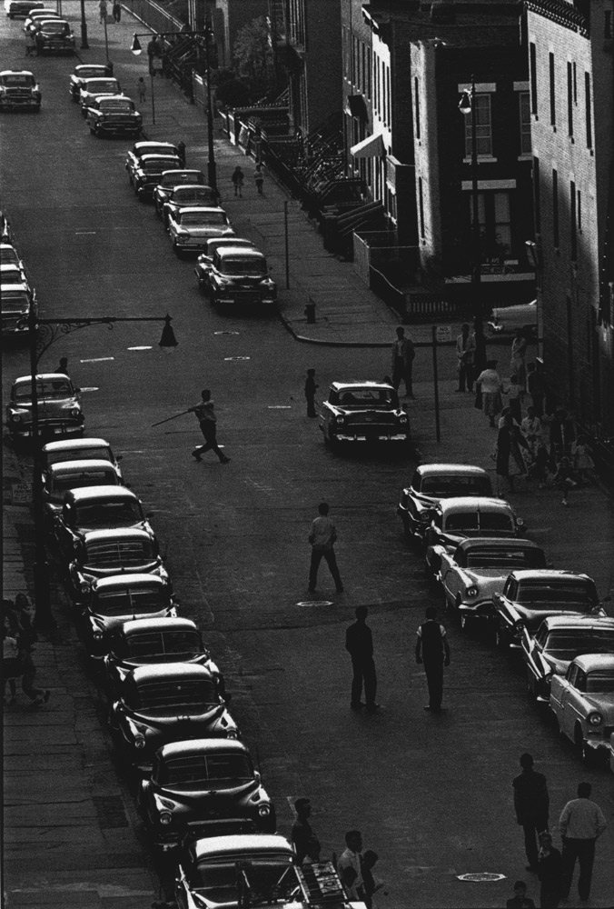 Untitled  (Stickball)   from  Brooklyn Gang , 1959 Silver gelatin print 11 x 14 inches