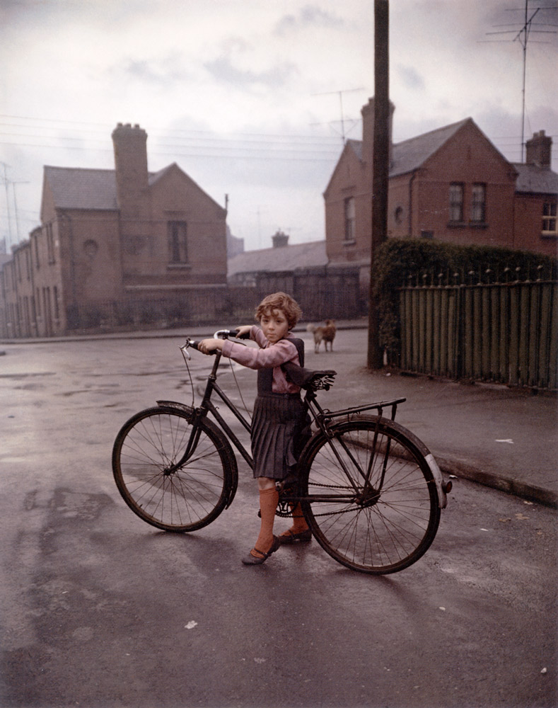 Girl With Bicycle , Dublin, 1966 Dye Transfer Print 20 x 16 inch