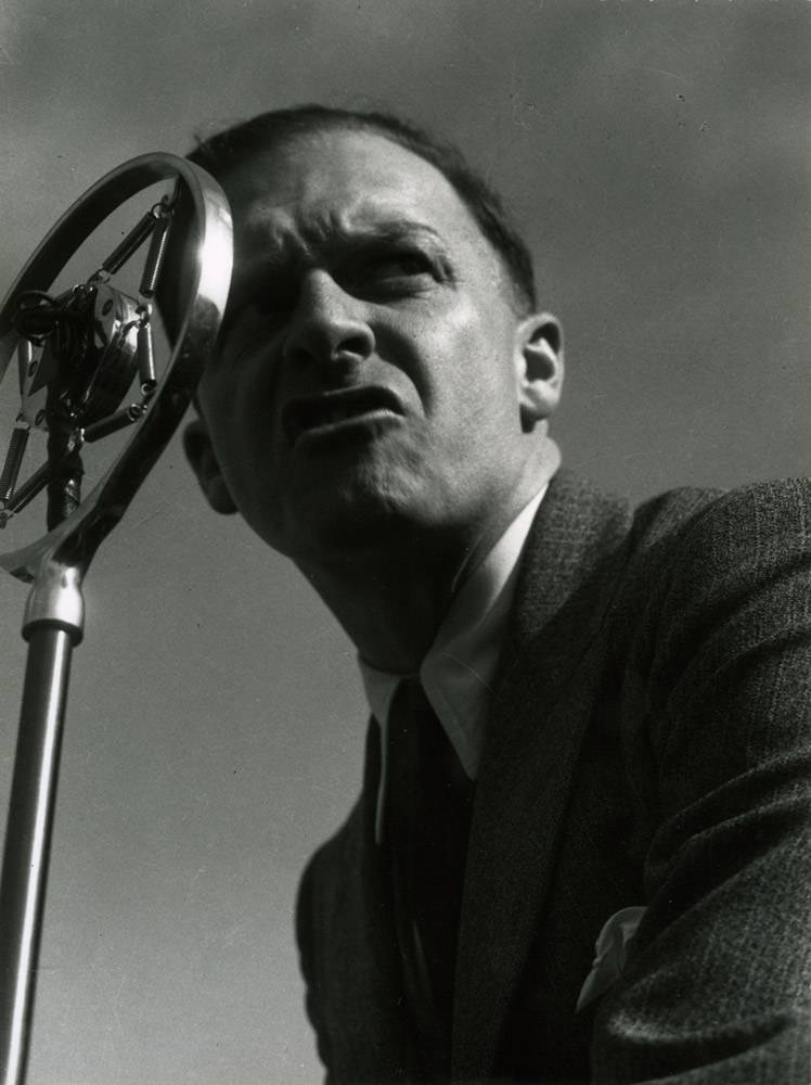 Man at Microphone ,  May Day Demonstration, San Francisco,  1934