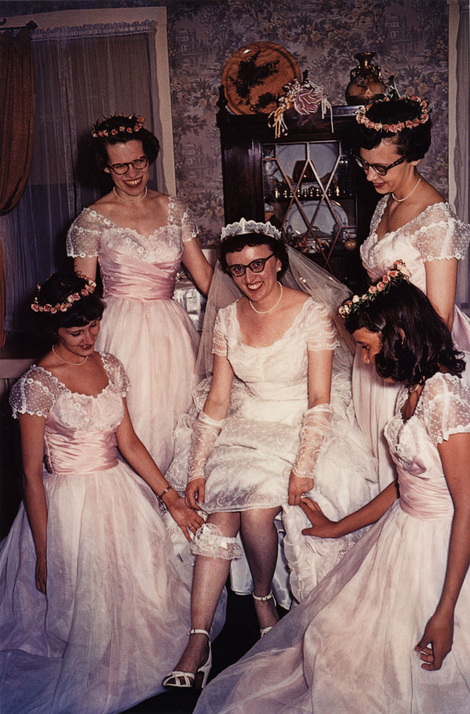 Bride with Bridesmaids, Des Plaines, Illinois , 1954
