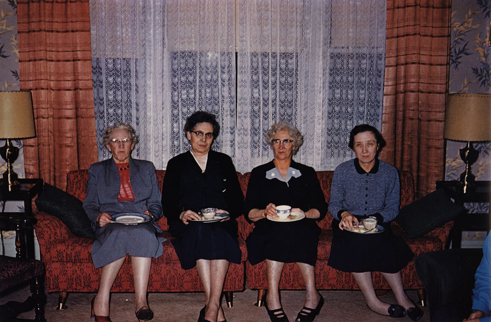 Four Ladies at Tea. Grand Forks, North Dakota , 1955