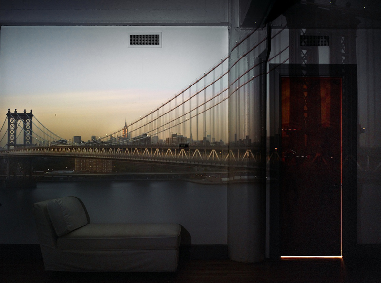 Camera Obscura: View of the Manhattan Bridge, April 30th, Evening,  2010