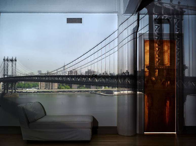 Camera Obscura: View of the Manhattan Bridge, April 30th, Morning,  2010