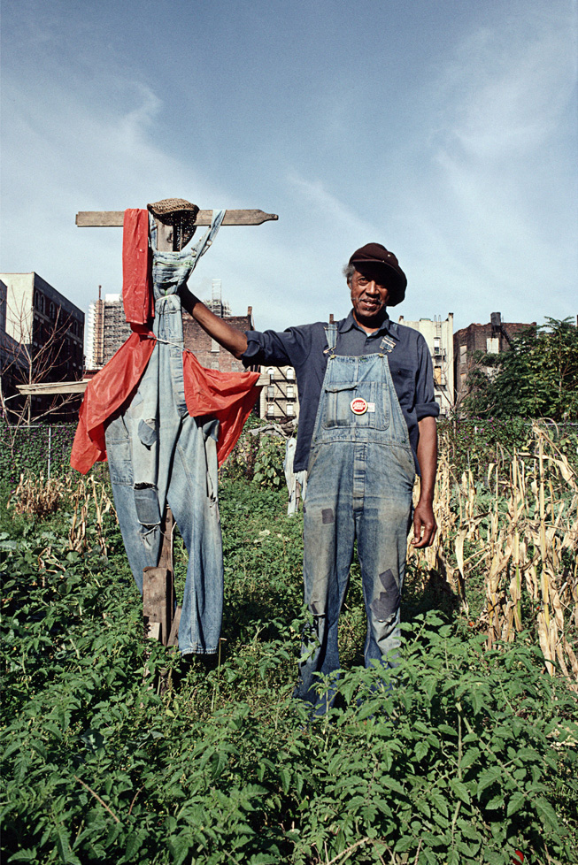 Eddie, Originally from Selma, Alabama, Urban Gardener, Frederick Douglass at W. 118th St., Harlem  1990