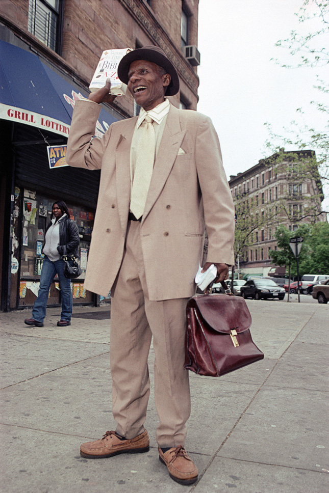 Pierre Gaspar, Street Evangelist, St. Nicholas at West 116th St., Harlem,  2008