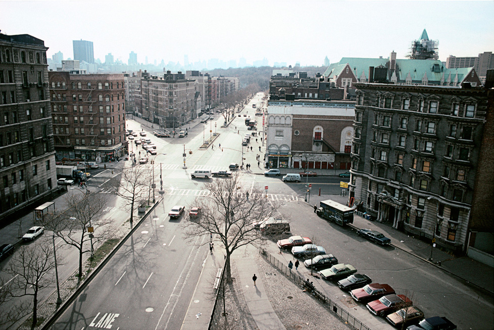 View South Along Adam Clayton Powell Blvd. from W. 117th St., Harlem , 1992