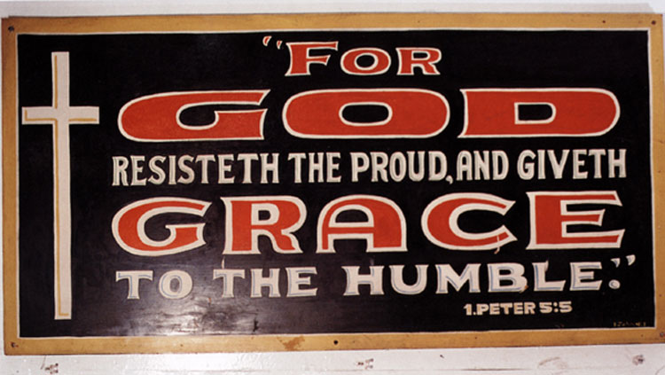 Sign made by John B. Downey for Emmanuel Baptist Rescue Mission, Fifth Street, Los Angeles , 2003