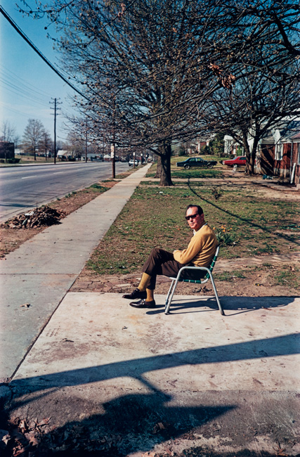 Untitled  (Man in lawn chair), 1970-1973 Dye Transfer Print 20 x 16 inches