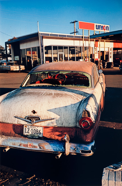 Untitled  (Rusting car), 1970-1973 Dye Transfer Print 20 x 16 inches