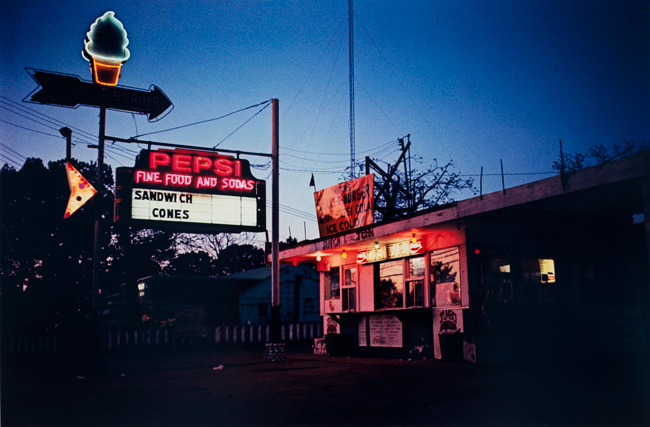 Untitled  (Diner at night), 1970-1973 Dye Transfer Print 16 x 20 inches