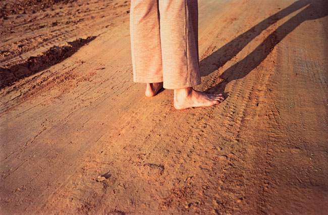 Untitled  (Feet on earth road), 1970-1973 Dye Transfer Print 16 x 20 inches