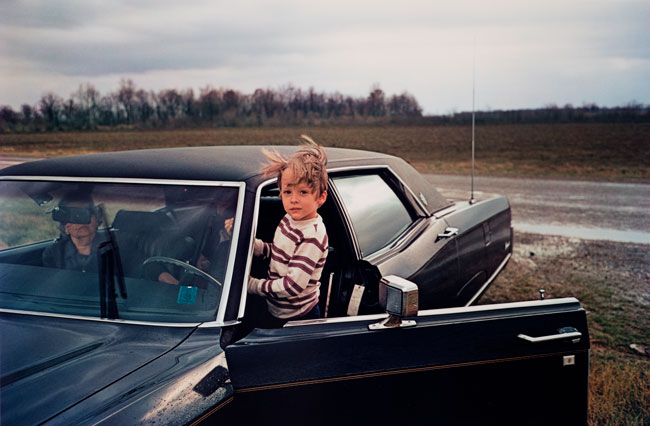 Untitled  (Boy and car), 1970-1973 Dye Transfer Print 16 x 20 inches