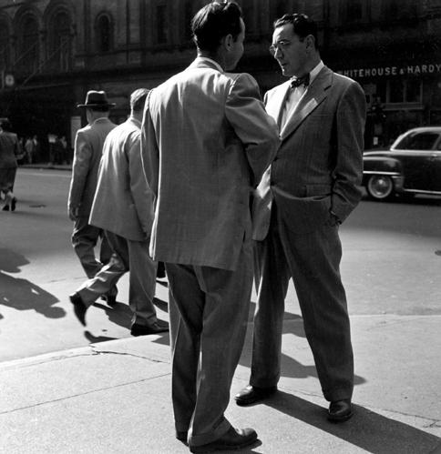 Streetcorner Confab, Oakland, 1952