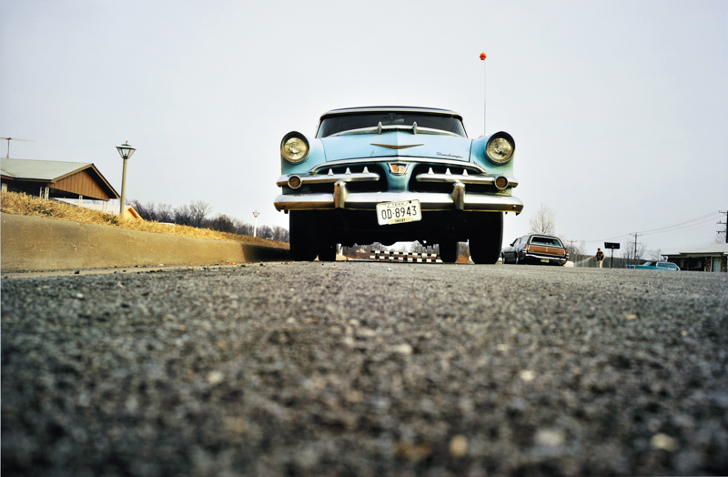 William Eggleston,  Untitled , [Blue Car, From Dust Bells, Vol. I], 1970