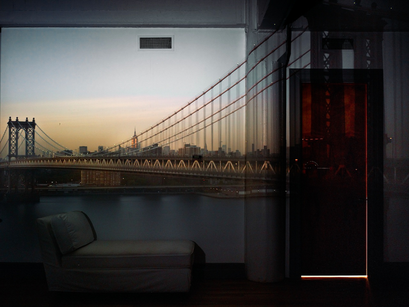 Abelardo Morell,  Camera Obscura: View of the Manhattan Bridge, April 30th, Evening , 2010