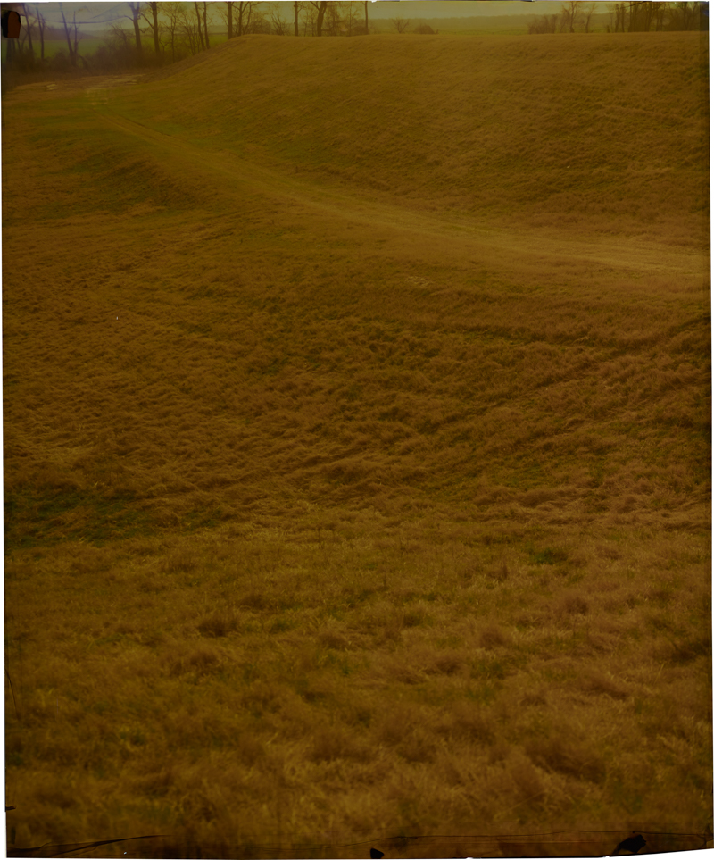 Levee at State Line, Northwest , 2014 Image on Ilfochrome paper, unique photograph 33.5 x 27.5 inches