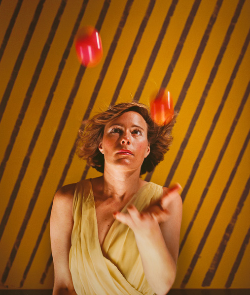 Woman Juggling , 1985 Vintage Cibachrome Print 30 x 24 inches