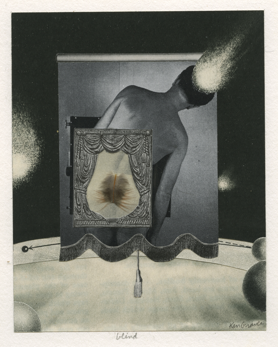 Ken Graves   blind , 2005 4.6 x 3.75 inch collage