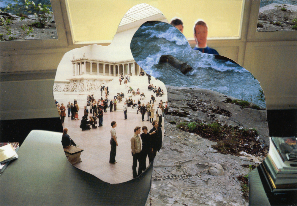Melinda Gibson   Photomontage III, (taken from pages 106, 136, 202) , 2009-2011 8 ⅜ x 11 ¾ in, unique photographic collage