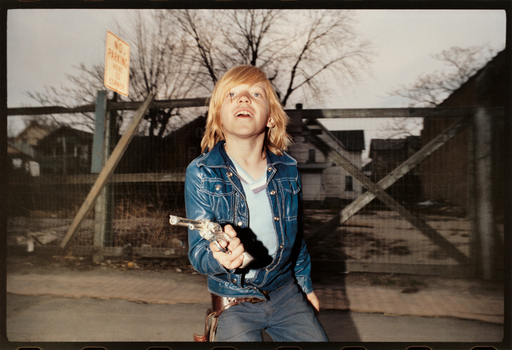 Flashed Boy in Blue Jacket With Six Shooter, 1974.