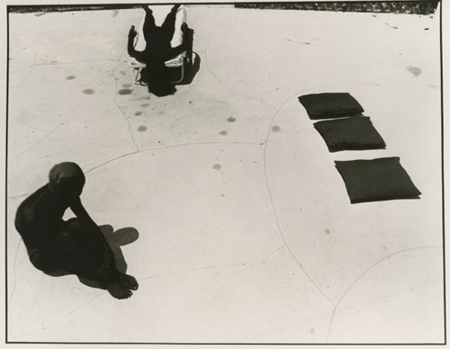 Jo AnnCallis,   Black Sun Picture #5   , 1976 8 x 10 inch Vintage Gelatin Silver print