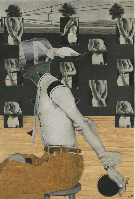 Arm Rest , 2010 Collage, 5 x 7.5 in Signed on print recto in pencil