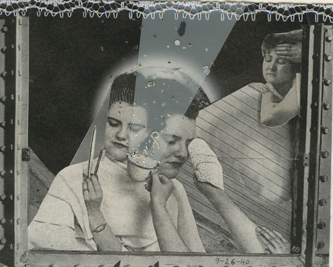 Hopeful Women , 2001 Collage, 3.5 x 4.5 in Signed on print recto in pencil