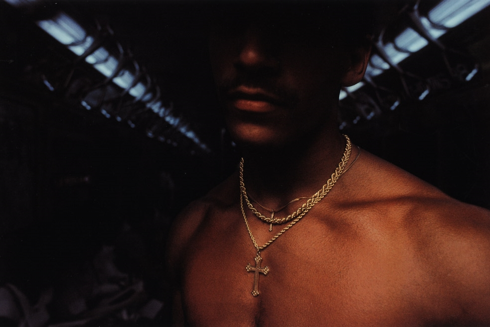 Untitled  (Man with chain), early 1980s Dye Transfer Print 20 x 24 inches